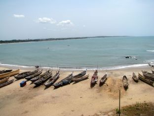 Elmina's beautiful beach, where captives embarked on the horrors of the Middle Passage