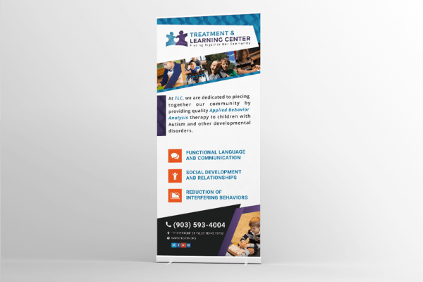 Treatment & Learning Center Retractable Banner