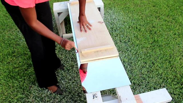 Home Decor How To: DIY Bath Table by Angela East at www.angelaeast.com