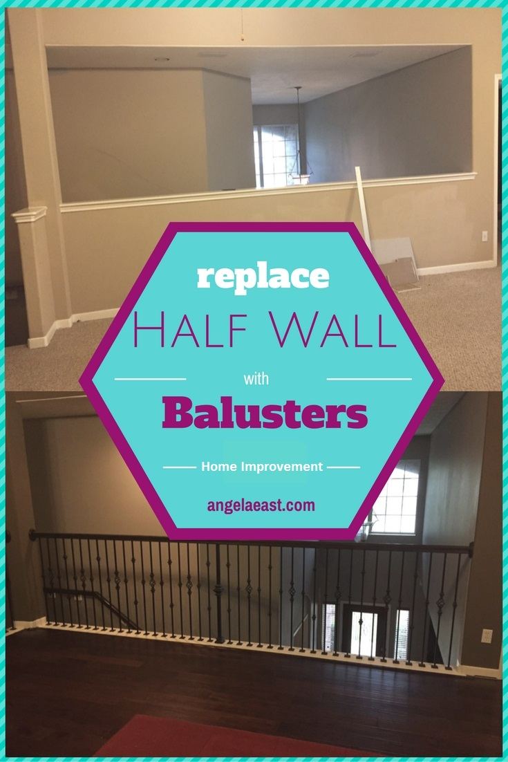 Replacing Half Wall with Wrought Iron Balusters   Home Improvement   Home Decor   Home Renovation   Home DIY