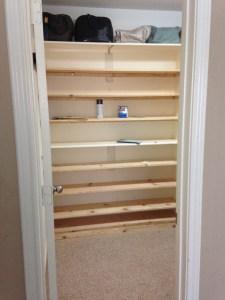 DIY - Custom Built in Shoe Shelf