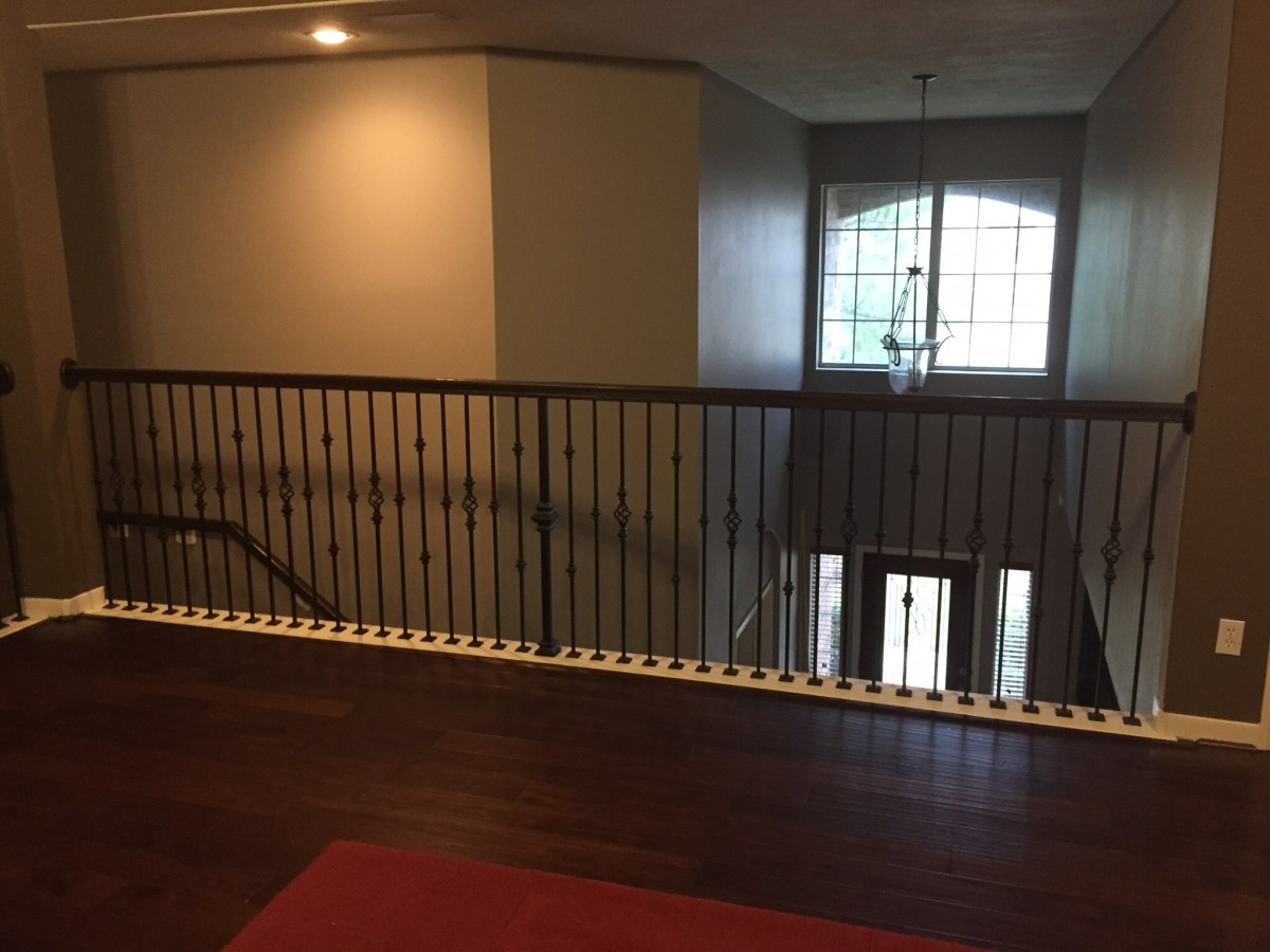 Replacing Half Wall With Wrought Iron Balusters Angela East