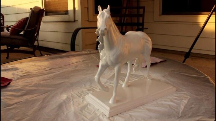 White Horse Statue - DIY