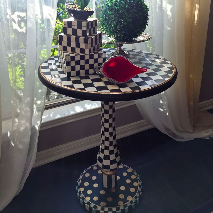 Diy Mackenzie Childs Inspired Accent Table Makeover