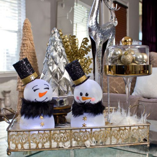 Dollar Tree Christmas Decor And Gift Ideas: Dollar Tree Snowman