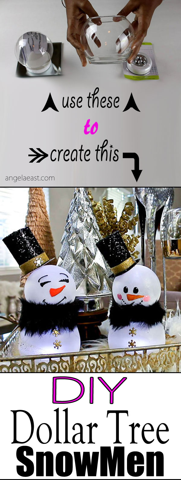 DIY Dollar Tree Snowman