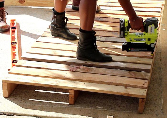 Diy Furniture Part - 50: DIY Pallet Furniture - Patio Furniture Sectional | DIY Furniture | DIY |  Outdoor Living |