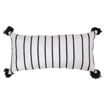 Lumbar Pillow – Black Stripe – Threshold