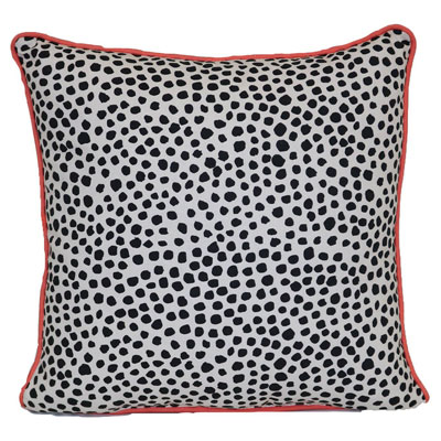 Outdoor Decorative Pillow – Black Dots Pink Border – Room Essentials