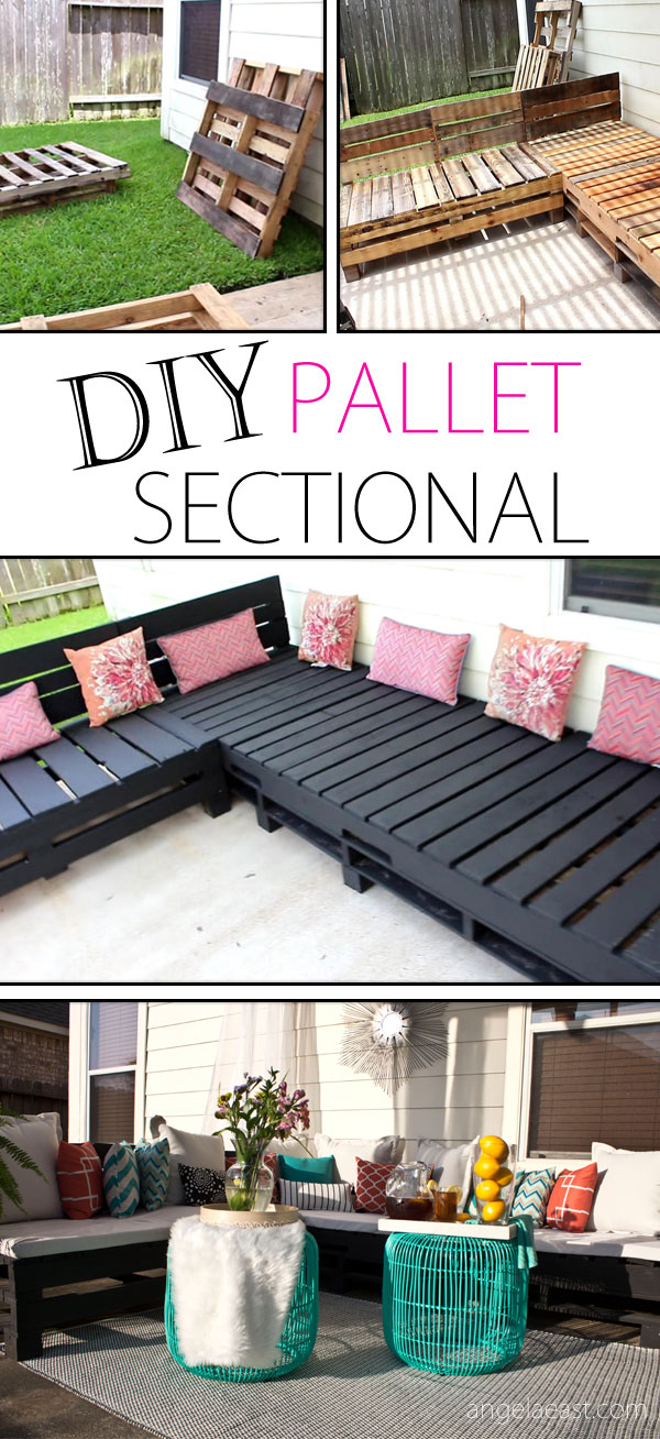 DIY Pallet Furniture   Patio Furniture Sectional | Pallet Sofa | Pallet  Chair | DIY Furniture