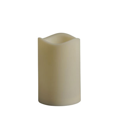 4.5 in. x 6 in. Remote Ready Battery Operated Resin LED Outdoor Candle