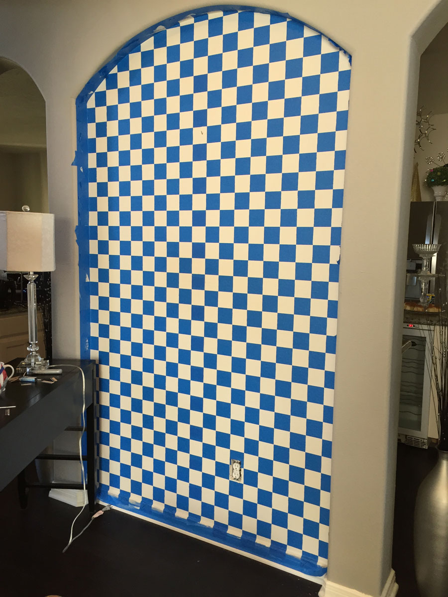 MacKenzie-Childs Inspired DIY Painted Accent Wall