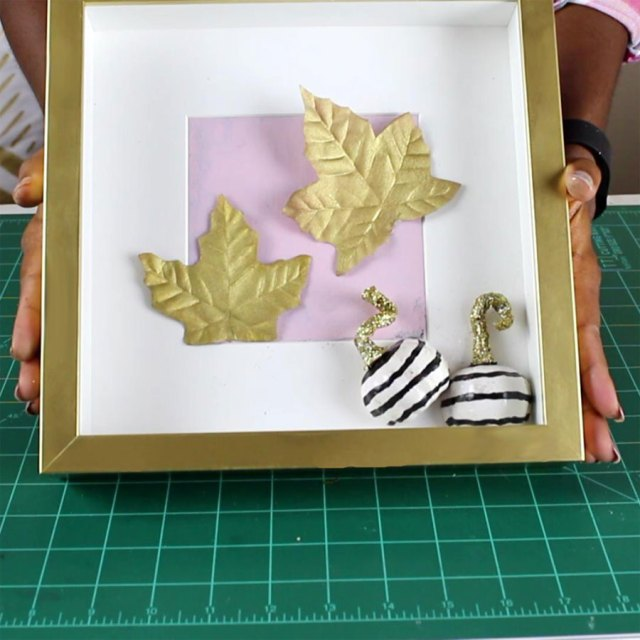DIY Fall decor - Small Shadow Box | Home Decorations | Fall Crafts | Seasonal Decor