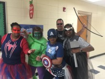 A group of Avengers ready to keep the halls safe.