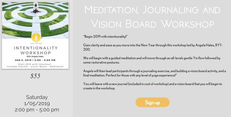 Meditation, Journaling and Vision Board Workshop