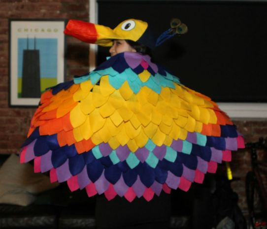 DIY kevin the bird costume back view