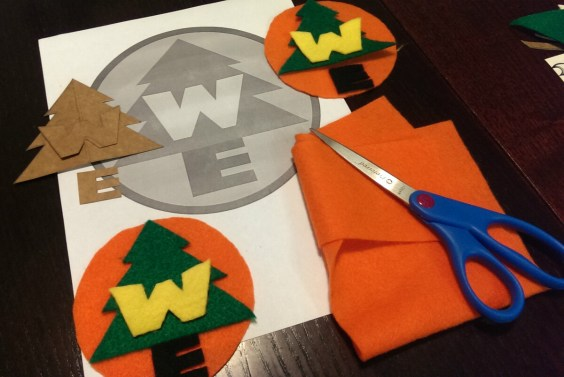 diy russell wilderness explorer felt badges