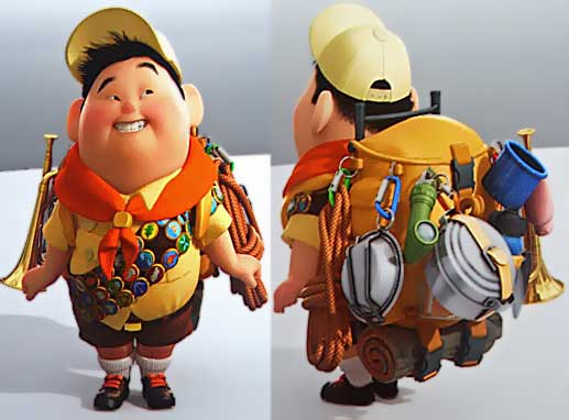 Russell Movie Up front and back