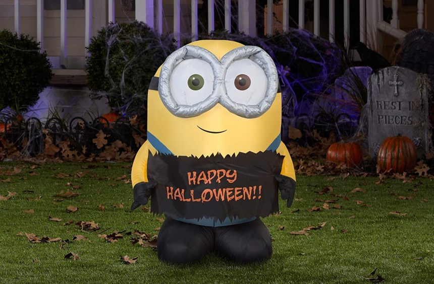 happy halloween inflatable minion decor