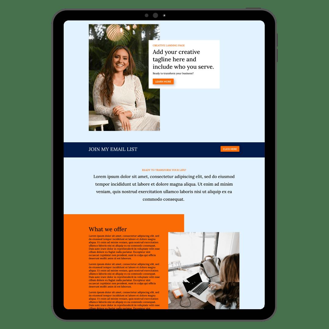 Creative Landing Page Mockup