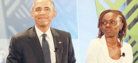 Akirachix co founder Judith Owigar with President Obama during the GES2015 in Nairobi.