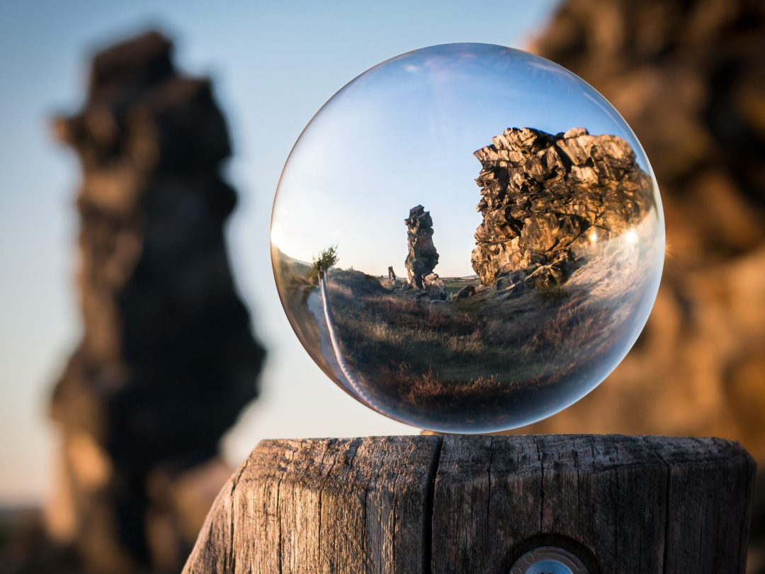 Crystal orb perspective photo
