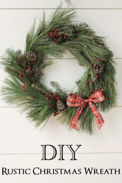 diy rustic christmas wreath tutorial - Rustic Christmas