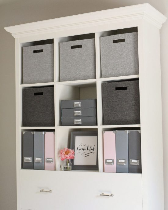 DIY Office Storage Cabinet Bookcase & DIY Office Storage Cabinet Bookcase - Angela Marie Made