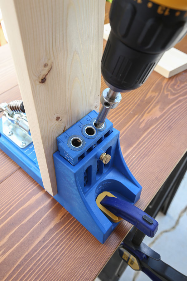Drill pocket holes into wood with a Kreg Jig