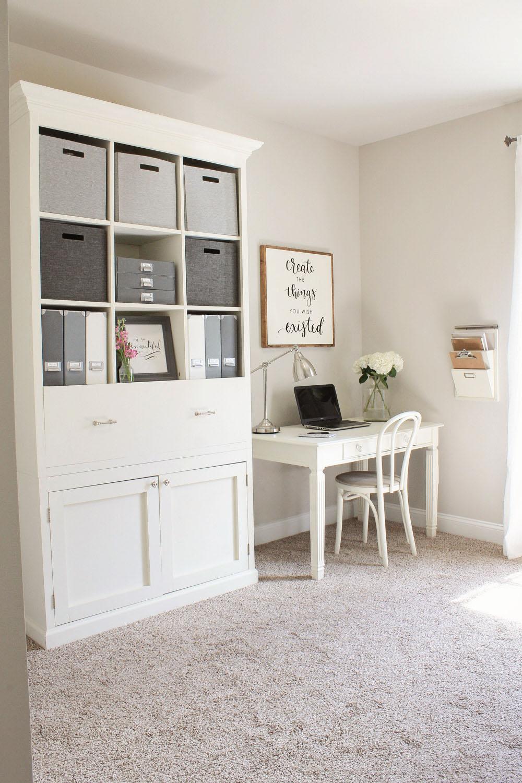 Retro Modest Home Office Workspace Design Vangviet. Ikea Office ...