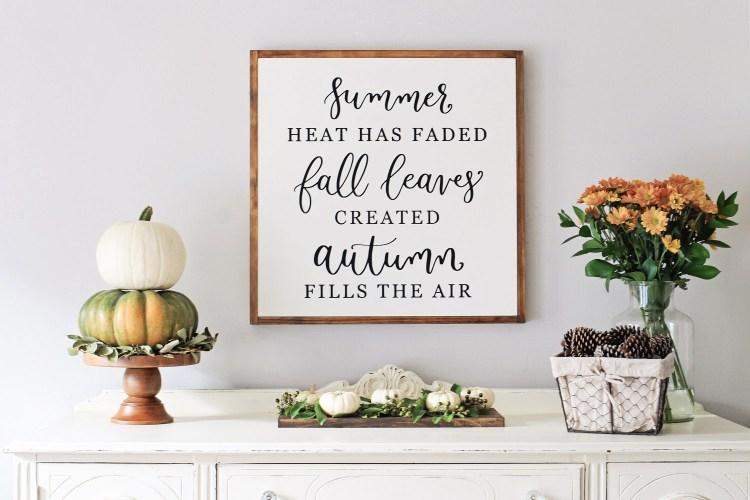 Fall Dining Room Sideboard Decor