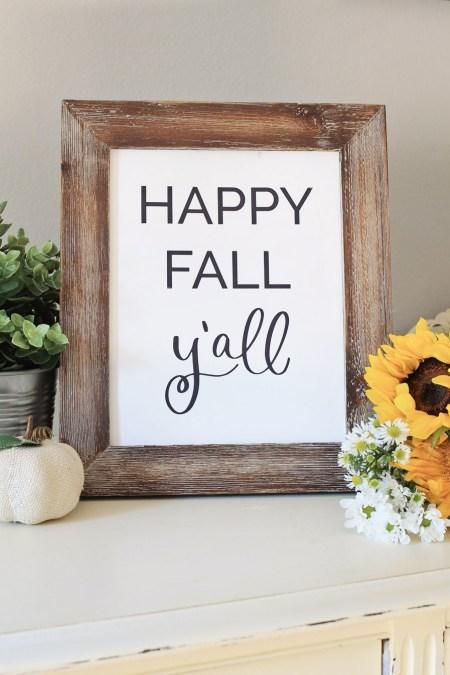 Free Happy fall ya'll printable
