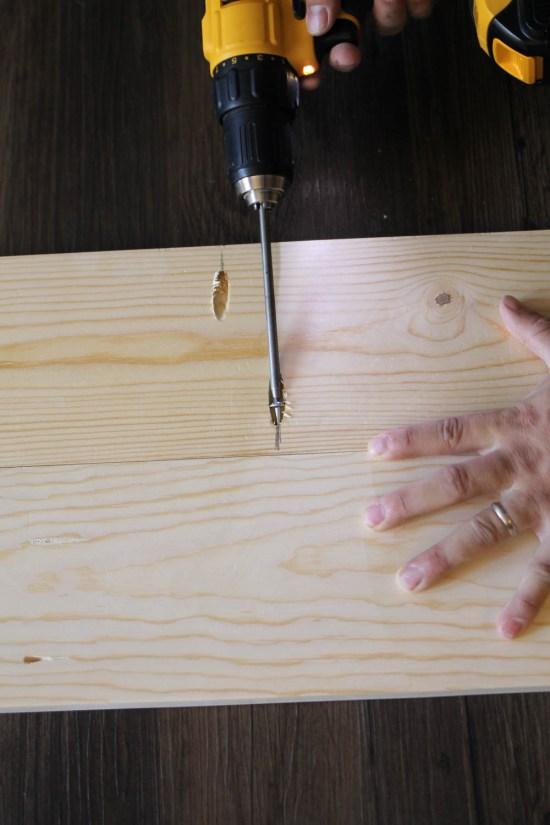 Rustic Tree Branch Desk DIY