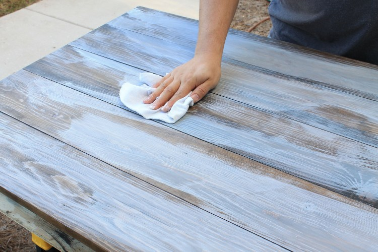 How to create a weathered wood gray finish. How to Create a Weathered Wood Gray Finish   Angela Marie Made