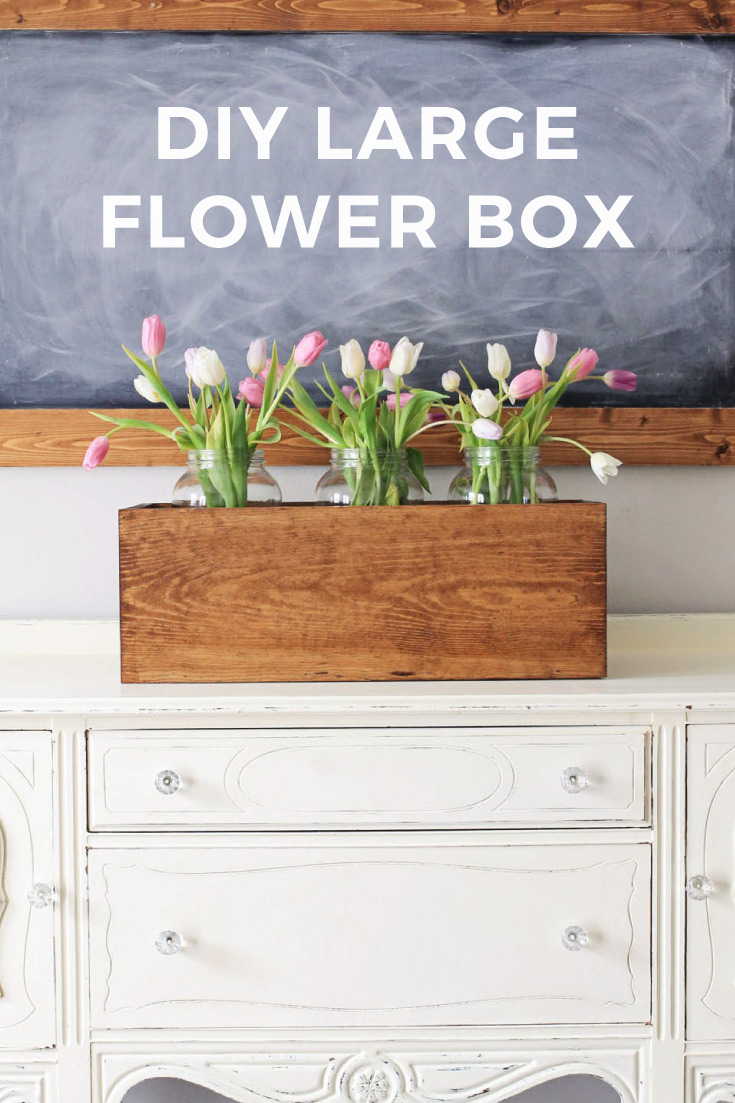 Large Wood Flower Box DIY