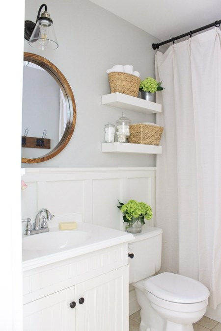 Master Bathroom Makeover Reveal - One Room Challenge