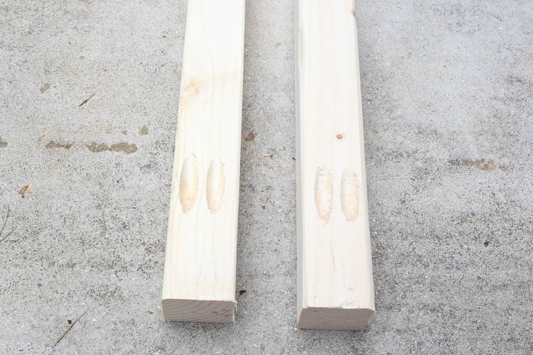 add pocket holes to bottom of vertical planter stand boards