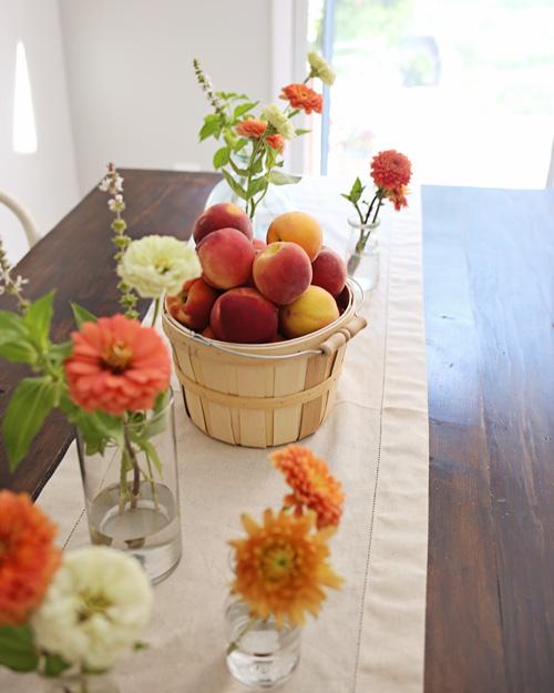 Peach Summer Tablescape