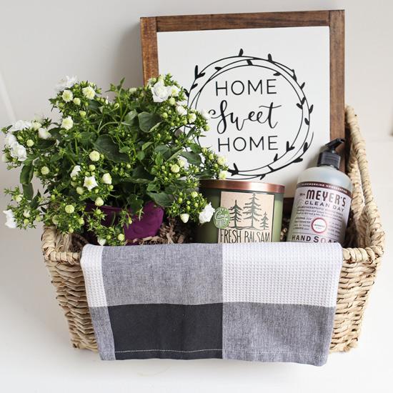 rustic housewarming gift basket angela marie made. Black Bedroom Furniture Sets. Home Design Ideas