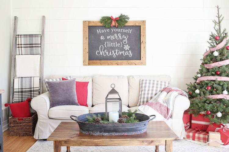 Rustic Christmas Living Room Decor Angela Marie Made