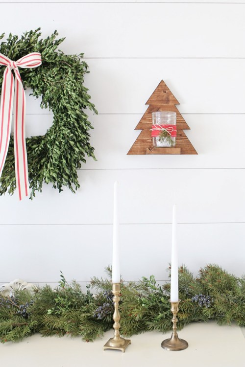 Rustic Christmas Living Room Decor