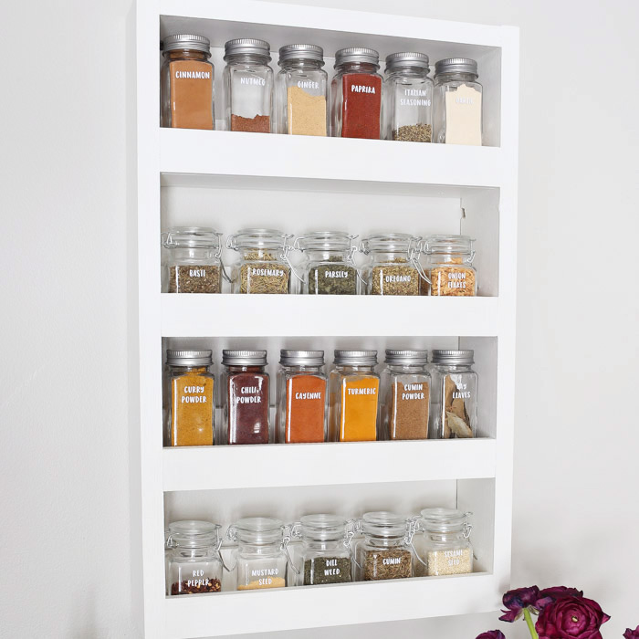 How To Build A Spice Rack New DIY Wall Spice Rack Angela Marie Made