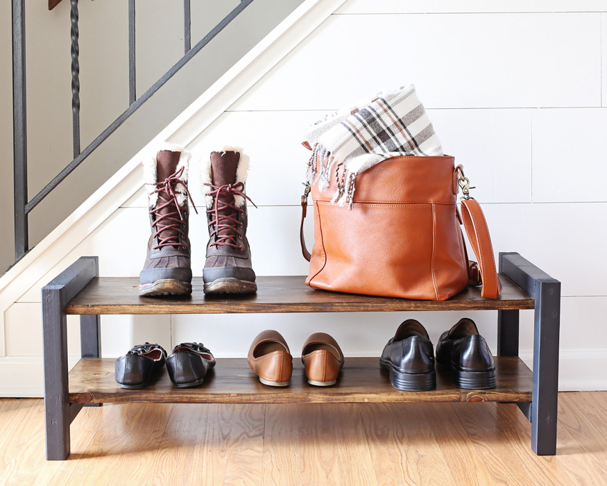 Nice Entryway DIY Shoe Rack