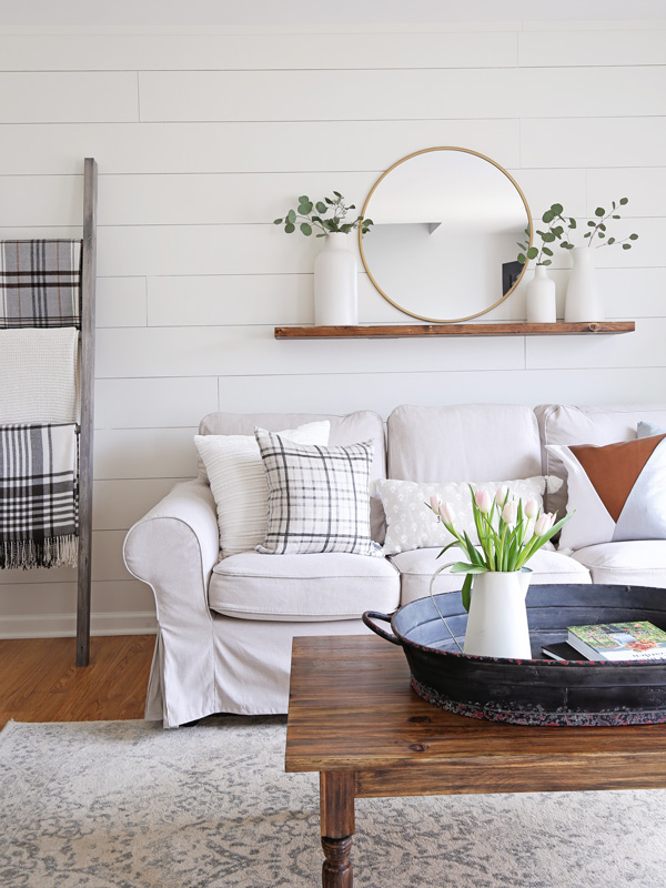 How to Paint Shiplap Walls - Angela Marie Made