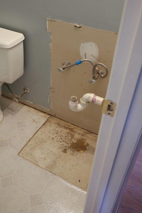 Bathroom Demo and Flooring
