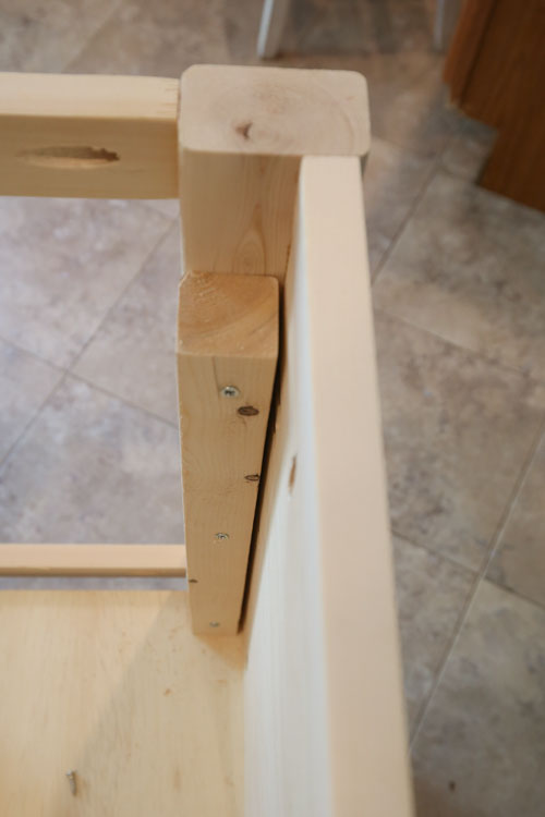 attach door to bathroom vanity with hinges