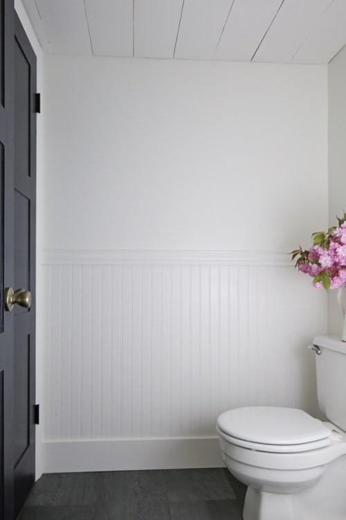 Diy beadboard bathroom angela marie made - How to install beadboard in a bathroom ...