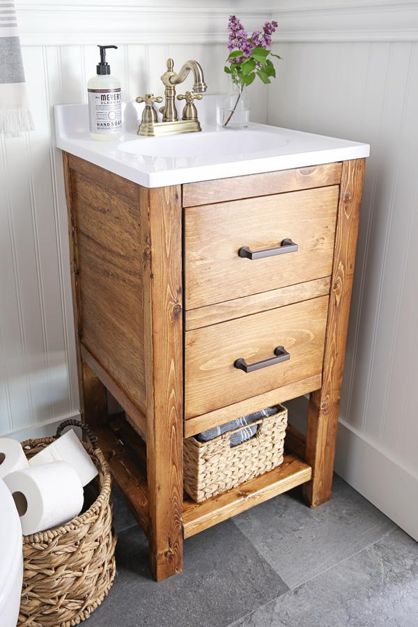 Diy Bathroom Vanity For 65 Angela Marie Made