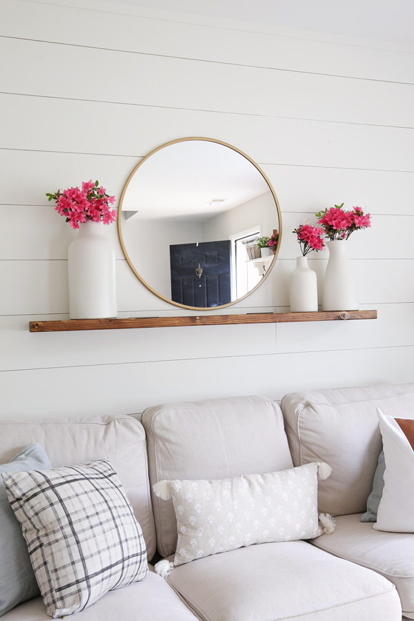 Easy DIY floating shelf made out of solid wood