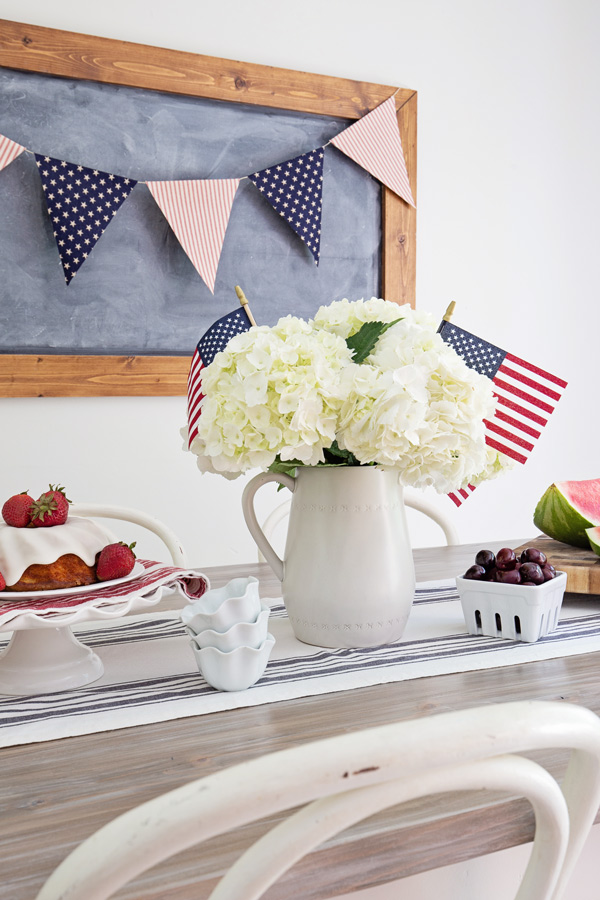 4th of July Banner and Tablescape